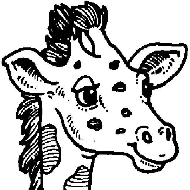 Free coloring and drawings Giraffe head Coloring page