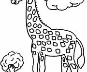 Coloring pages Giraffe in the forest