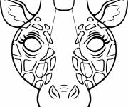 Coloring pages Giraffe mask