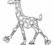 Coloring pages Giraffe playing