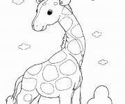 Coloring pages Little Giraffe standing