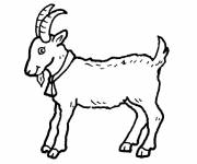 Free coloring and drawings Monsieur Seguin's goat Coloring page