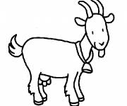 Free coloring and drawings Smiling goat Coloring page