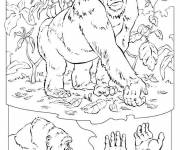 Free coloring and drawings Gorilla and plants Coloring page