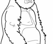 Free coloring and drawings Gorilla rests Coloring page