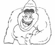 Coloring pages Laughing gorilla