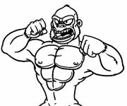 Coloring pages Muscular gorilla