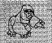 Coloring pages Pissed gorilla