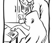 Coloring pages Smart gorilla