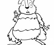 Coloring pages Funny hamster