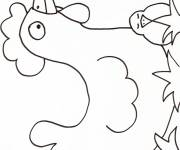 Coloring pages Hen and her baby in black