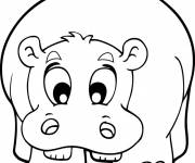 Coloring pages Cute hippo