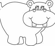 Coloring pages Happy hippo