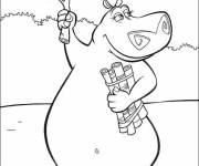 Coloring pages Madagascar hippo