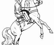 Coloring pages Drawing of a cowboy's Horse
