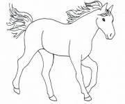 Coloring pages Easy horse
