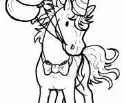 Coloring pages Horse with balloons