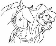 Coloring pages Horseland
