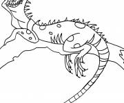Free coloring and drawings Iguana on the tree Coloring page