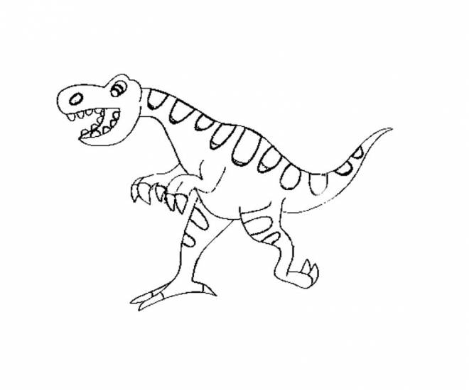 Free coloring and drawings A humorous dinosaur Coloring page