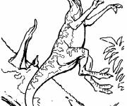 Free coloring and drawings Carnivorous dinosaur on the attack Coloring page