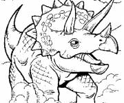 Free coloring and drawings Dinosaur Triceratops Coloring page