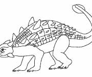 Free coloring and drawings Euoplocephalus dinosaur Coloring page