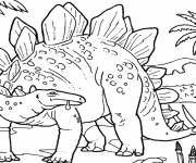 Free coloring and drawings giant dinosaur Coloring page