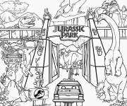 Free coloring and drawings Image de Jurassic Park Coloring page