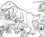 Free coloring and drawings Jurassic Park Lego Coloring page