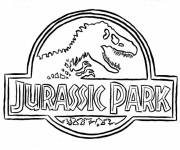 Free coloring and drawings Logo Jurassic Park Coloring page