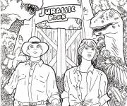 Free coloring and drawings Logo Jurassic World Coloring page