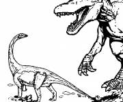 Free coloring and drawings Two Jurassic Park Dinosaurs Coloring page
