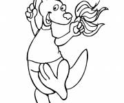 Coloring pages Kangaroo supporter