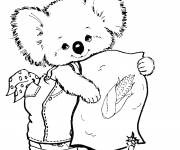 Free coloring and drawings Cute koala Coloring page