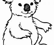 Free coloring and drawings Easy koala Coloring page