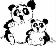 Free coloring and drawings Koala and his humorous little Coloring page