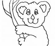 Coloring pages Koala with eyes closed