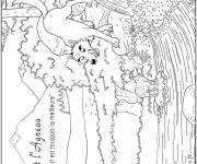 Coloring pages A lamb and a wolf