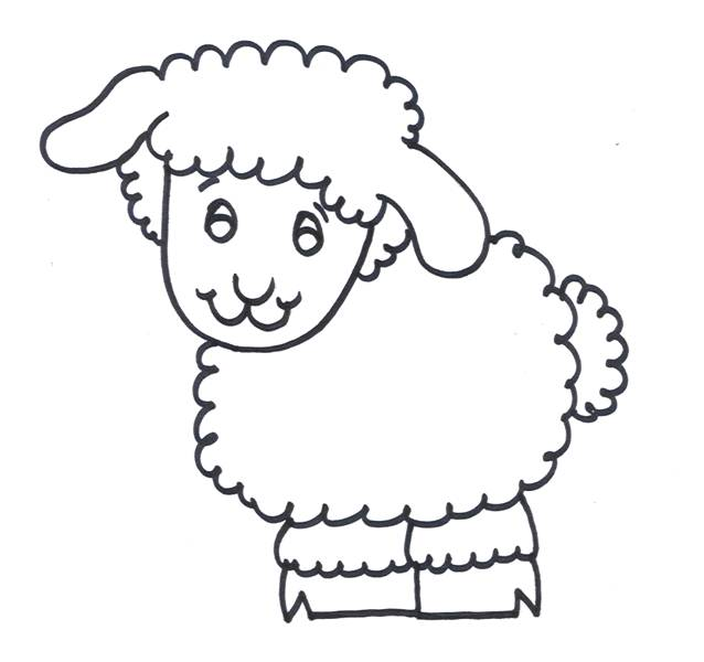 Free coloring and drawings Drawing of a lamb Coloring page