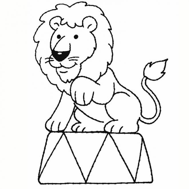 Free coloring and drawings Circus lion Coloring page