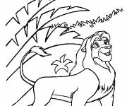 Coloring pages Simba adult