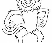 Coloring pages Easy monkey