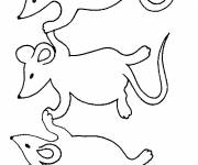 Coloring pages Mice have fun