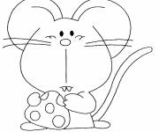 Coloring pages Mouse that eats