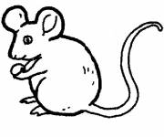 Coloring pages Simple mouse