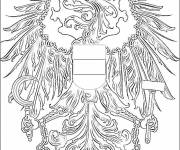 Coloring pages Mandala ostrich