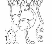 Coloring pages Ostrich and Egg