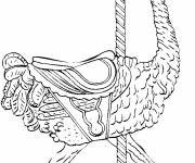 Coloring pages Ostrich racing