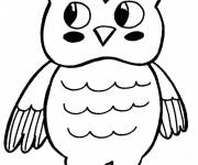 Coloring pages A beautiful Owl